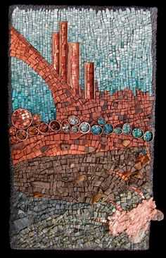 What Lies Beneath: The Geology Series by Rachel Sager Lynch | Mosaic Art NOW