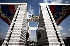World Peace Gate in Olympic Park, Seoul Korea. Built for the 1988 Summer Olympics 1988 Olympics, Summer Olympics, Daegu, Busan, Male Gymnast, Hanging Hats, Asian Games, Commonwealth Games, Korean Wave