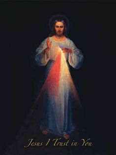 Divine Mercy Image -This original version  by Eugene Kazimierowski was supervised by St. Faustina and Blessed Michael Sopocko, in Vilnius. This sacred Image is a true blessing for those who have devotion to Divine Mercy. It is like having a piece of Heaven in our homes. This sacred image symbolises the constant presence of Jesus in our lives, watching over us and granting us unimaginable graces. It is truly an immense grace to even know about this holy and living Image of Jesus
