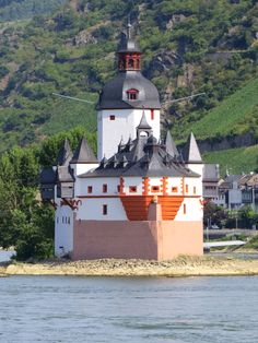 One of the many gorgeous castles along the Rhine River