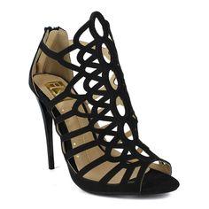 Fahrenheit Women's Giselle-01 Glitter Mesh Dressy High Heel
