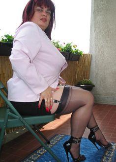 Sexy stocking flash