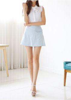 Ruru a line skirt korean fashion ținute! Korean Fashion Online, Korean Fashion Winter, Korean Fashion Trends, Korean Street Fashion, Korean Skirt Outfits, Korean Dress, Skirt Fashion, Fashion Outfits, Fashion Ideas
