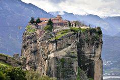 Meteora, Greece Monastery of the Holy Trinity Impressive!!!  www.combobeds.com
