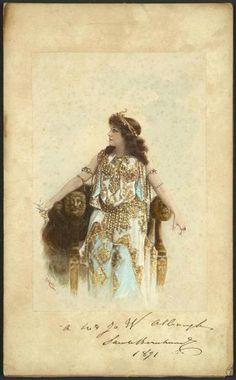 C.A.Muller ~ Color portrait of Sarah Bernhardt, 1891.