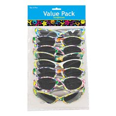 85e5dcdc3abb Childrens Boy Girl Party Bag Fillers Favours Toys Pack of 8 Butterfly  Sunglasses
