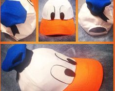 Popular items for donald duck hat on Etsy Goofy Costume, Daisy Costume, Duck Costumes, Running Costumes, Family Halloween Costumes, Disney Costumes, Halloween Party, Halloween Ideas, Donald Duck Kostüm