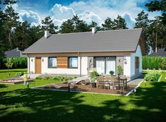 DOM.PL™ - Projekt domu ARP TRACJA 2 CE - DOM AP2-14 - gotowy koszt budowy Simple House Plans, Home Fashion, Planer, Outdoor Structures, House Design, How To Plan, Mansions, House Styles, Outdoor Decor