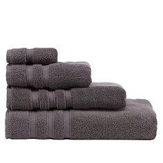 J by Jasper Conran Dark grey 'Hotel' luxury Turkish cotton towels | Debenhams