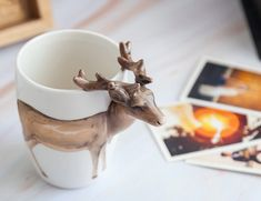 Looking for a way to spruce up your morning? The Deer Handle Ceramic Mug is here just for you. Air Lounger, Stag Antlers, Swedish Design, Pottery Mugs, Shopping Hacks, Ceramic Mugs, Morning Coffee, Organization, Organizing Ideas