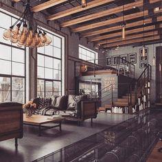 New York City loft. Done pretty damn right. #interior #coolcurator