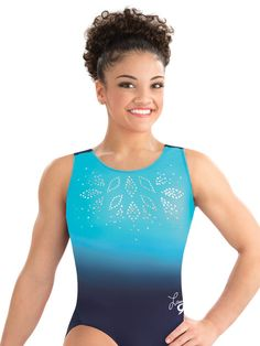 Laurie Hernandez Navy Glimmer Leotard from GK Elite Gymnastics Uniforms, Gymnastics Suits, Gymnastics Party, Gymnastics Training, Gymnastics Leotards, Gymnastics Room, Gymnastics Clothes, Gymnastics Stuff, Elite Gymnastics