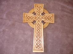 Cool hand carved wood Celtic cross.