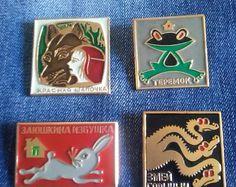 Советский значок, значок, значки СССР, сказки, бейдж desky, 1970-80god. Ретро значки, коллекция.