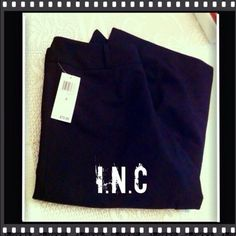 """INC Black Dress Capri/Crop Pants The Material is 68% Polyester, 29% Rayon & 3% Spandex.  The Inseam is 18 1/2"""". No pockets & Close w/ a Hook Closure, Flat Front & Hidden Button. INC International Concepts Pants Ankle & Cropped"""