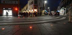 Semáforos de suelo para peatones distraídos