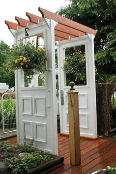 Old doors for arbor