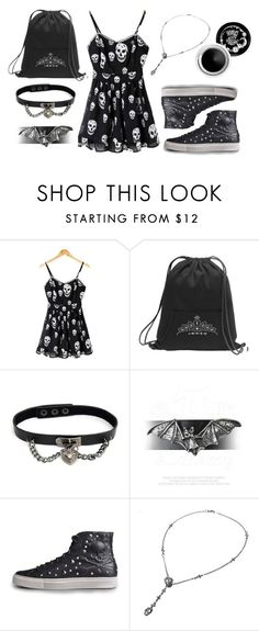 """Skull Print"" by rebelsmarket-0 on Polyvore"
