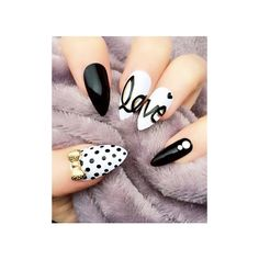 27 Stiletto Nails That Will Take Your Manicure to the Next Level ❤ liked on Polyvore featuring nails