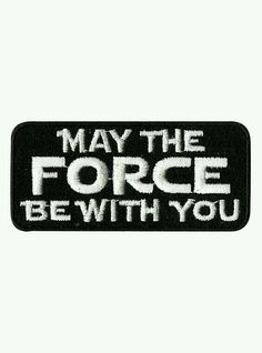 b5fa64b439087 Black iron-on patch from Star Wars with embroidered
