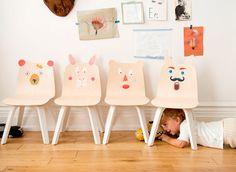 ¿Habéis visto que sillas más divertidas? Mobiliario infantil con gusto para dormitorios infantiles. #mobiliarioinfantil #dormitoriosinfantiles