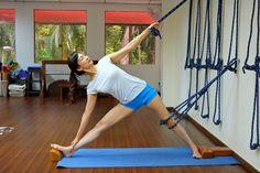 parivrtta ardha chandrasana  yoga rope yoga everyday