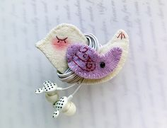 Other – Purple Wing Bird Earphones Winder – a unique product by lilyhandmade on DaWanda