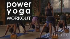 56 mins Full Body Power Yoga Workout : Gratitude