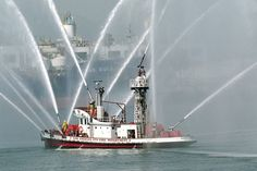 Commissioned in 1925, this classic fireboat served the L.A. Fire Department and the Port of Los Angeles until 2003. After nearly 80 years of service; it was replaced by the Warner L. Lawrence, one of the most powerful fireboats in the world. Located at Berth 85, Port of Los Angeles, San Pedro.