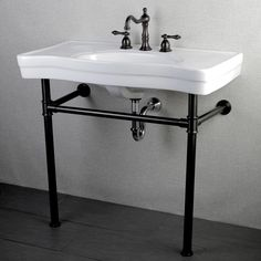 This pedestal-style Imperial Vintage 36-inch bathroom sink vanity is an elegant addition to any bathroom. This 36-inch bathroom sink vanity is made from stain- and germ-resistant vitreous china that i