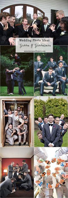 Groom and groomsmen wedding photo ideas #weddingideas #weddingphotos #wedding / http://www.deerpearlflowers.com/wedding-photo-ideas-and-poses/
