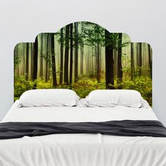 Forest Dreams Adhesive Headboard Mount wall decal on wall!!