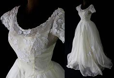 1950s Marie of Pandora Wedding Gown Bridal Gown Trash the dress AS IS by PetticoatsPlus on Etsy
