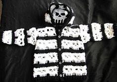 Ravelry: Baby Bone Head Creepy Skull Hoodie pattern by Spider Mambo  $1.00