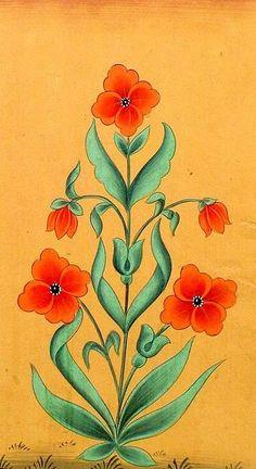 gardenofthefareast:  Floral Mugal Art Painting