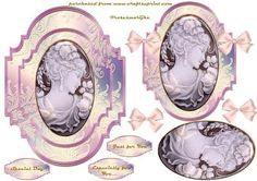 Vintage cameo beauty  on Craftsuprint designed by Marijke Kok - This is a beautiful Cameo design,in soft pink ,sooo gorgeous!! - Now available for download!