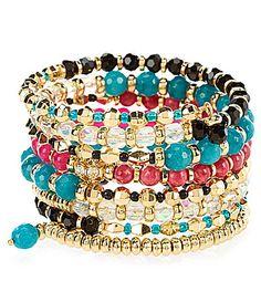 Anna and Ava Beaded Crystal Coil Bracelet #Dillards