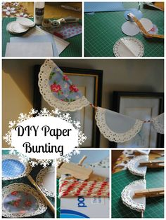 Paper Bunting from doilies