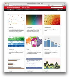 The fine folks of data visualization.ch put together a selection of data visualization tools that they use the most and that they enjoy working with. It includes libraries for plotting data on maps, frameworks for creating charts, graphs and diagrams and tools to simplify the handling of data.