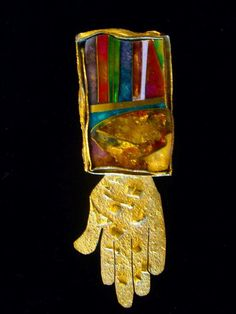 Rare & Important 20th C William Harper Brooch Titled ''Hand Of Fortune 2005''