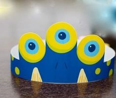 Monster Birthday Party Children's Party Crown (Royal Blue) a Monster Fest DIY Printable Collection by Spaceships and Laser Beams. $4.75, via | http://my-party-ideas-collections.blogspot.com