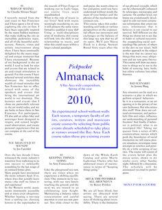 Pickpocket Almanack