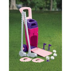 Shannie Bananie's 2nd birthday present! American Plastic Toys Girls' Junior Golf Set   Overstock.com Shopping - Big Discounts on American Plastic Toys Play Sets