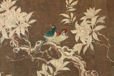 Early 19th Century Chinese Hand-Painted Wallpaper Panels image 6