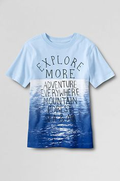 Boys' Short Sleeve Tie Dye Dip Dye Graphic T-shirt from Lands' End #landsendlove #xovoxbox