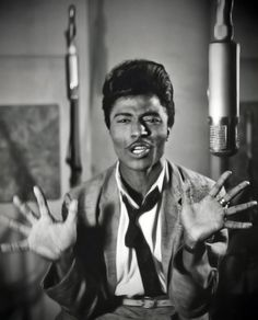 Little Richard  Loving on him. One of my favorite. When I hear him the music goes in my vains and i dance. When i go out dancing people notice me on the dancefloor. I notice them stop dancing and watch. I think its funny :)