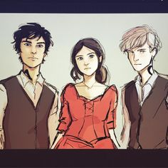 To those of you who recommended reading #theinfernaldevices series - How dare you. This series is 1000x times better than the mortal instruments and these 3 are breaking my heart. Hope to clean this up and make this a print later! In the mean time, I'll be crying over Will Herondale.... #willherondale #tessagray #jemcarstairs