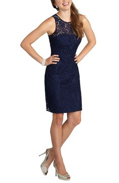 Donna Morgan 'Harlow' Illusion Yoke Lace Dress-  Nordstrom $198