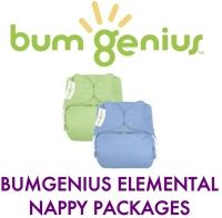 bumGenius Elemental Organic One-Size Nappy (NEW & IMPROVED) PACKAGES