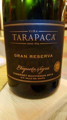 Tarapaca Gran Reserva Etiqueta Negra Cabernet Sauvignon  2012 Maipo Valley Chile